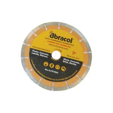 """Disco diamantado 9"""" Abracol"""